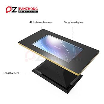 Table-mounted touch screen kiosk